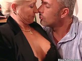 Mature woman and blonde sex bomb getting