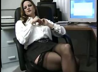 Big Tit Office Slut In Stockings Crazy For Cock