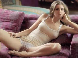 Blonde Cute Erotic European Small Tits Stripper Teen