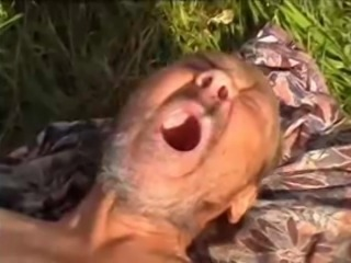 Russian teen fucks homeless oldman outdoors