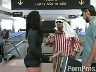 Bootylicious slut gets butt fucked by arab.