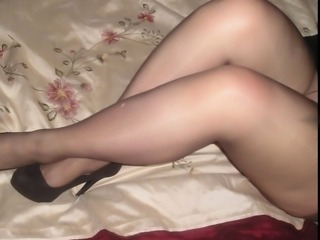 Black pantyhose tights with heels