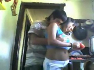 Pounding her latina pussy while shes trying to make dinner in the kitchen