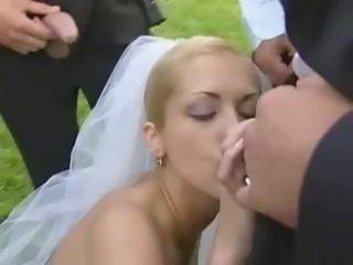 Blonde Blowjob Bride Gangbang Outdoor Teen