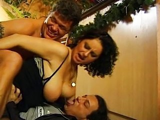 Brunette Double Penetration Mature SaggyTits Threesome