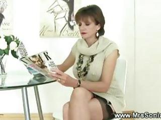 Cuckold watches wed suck gloryhole cock in sexy lingerie