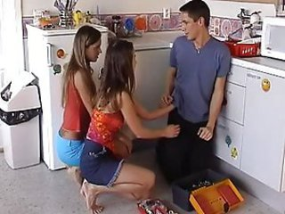 Teens Cooking in the Kitchen - Teen sex video -
