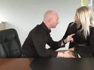 Sexy French girl connected with stockings fucked at bottom table