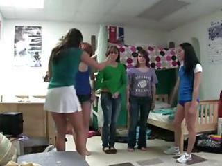Younger college puberty follow hazing orders as they are pulled from their room coupled with stripped