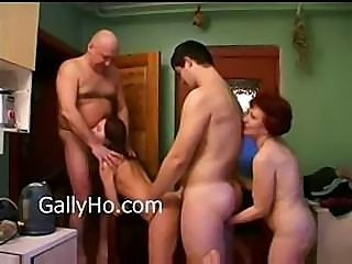 Drunk Family Groupsex Kitchen Party Russian