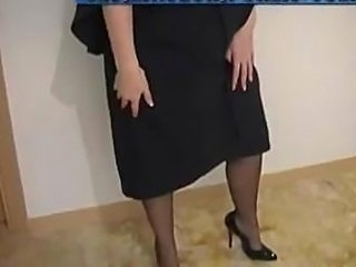 Mature School Stockings Teacher