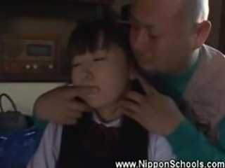 Innocent asian teen seduced by old perv