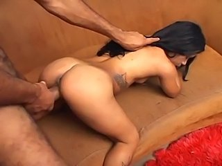 Brazilian Midget Melissa Takes Huge Black Cock