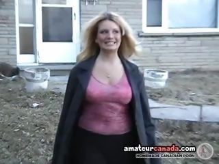 Amateur Blonde Mature Outdoor Public