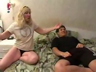 Son watched porno with mommy and fucked her
