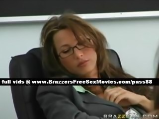 Stunning brunette teacher sleeps in the classroom