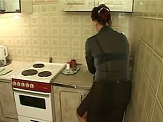 Amateur Kitchen Mature Mom Russian