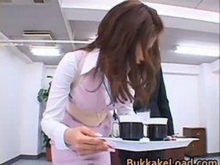 Asian Bukkake MILF Office Pornstar