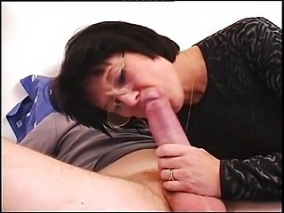 Amateur Blowjob Brunette French Glasses Mature
