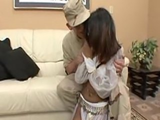 Soldier teaches sex to arabic girl