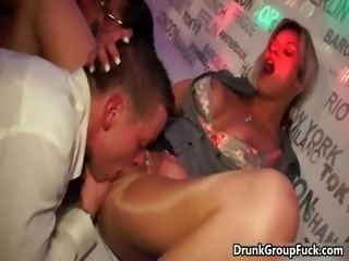 Horny drunk brunette enjoys tieing part3