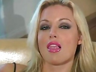Heart Stopping Blonde Babe Kayden Kross Masturbates In Nylon Pantyhose