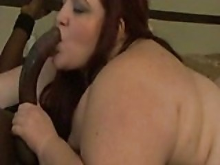 HOT BBW SUCKING HUGE BLACK COCK - Blowjob sex video -