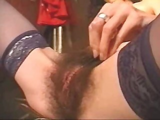 Extremely Hairy French Girl - Fetish sex video -