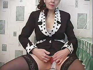 Clit Mature Pussy Russian Shaved Stockings Teacher