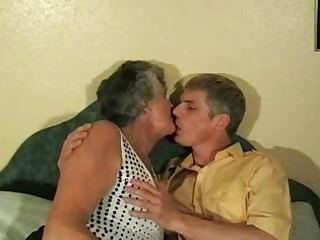 Grandma Libby with a guy 1 by fdrcrn