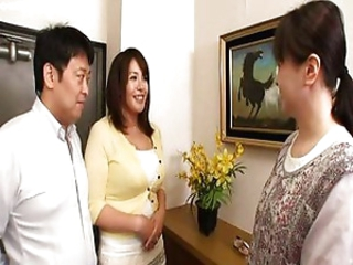 Korean MILF Pornstar Threesome