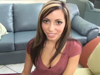 Amazing Latina Natural Office Teen Young
