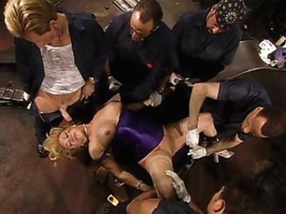 Blonde mature serviced hard