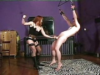 Strict mistress facesitting and punching balls