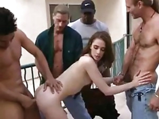 2 GIRLS GANGBANGED DP CUMSWAP CREAMPIE SWALLO