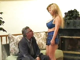 Babe Big Tits Blonde Old and Young Skirt