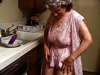 Horny granny sucks black dick with passion