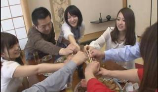Cute Japanese Kitchen Orgy Teen