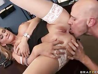 His Office Babe Is Busty And Horny