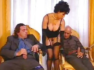 MILF Stockings Threesome Vintage