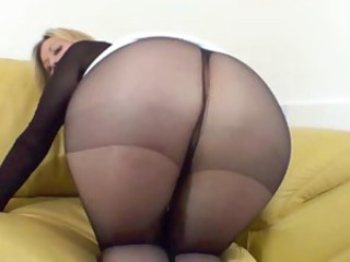 Jerf off to my pantyhosed ass 2