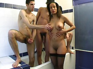 Amateur Bathroom Big cock Ebony French Gangbang Interracial MILF