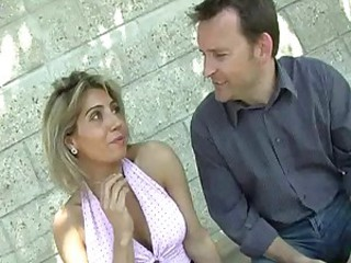 European French MILF Outdoor