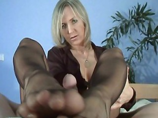 Slow Handjob & Footjob 4