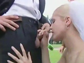 Bride Fantasy Handjob Outdoor Public Small cock