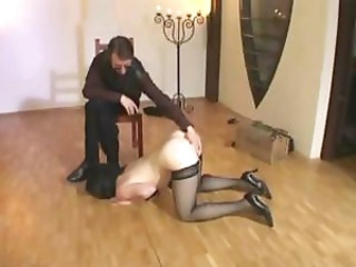 Housewife slave receives some further training from her master