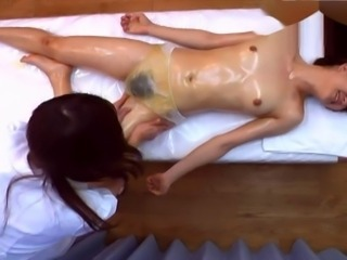 Asian Hairy Massage Oiled Small Tits
