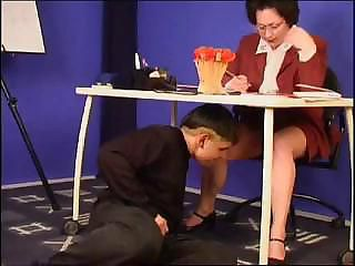 Fantasy Glasses Mature Old and Young Teacher Upskirt