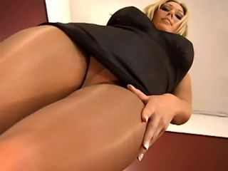 pantyhose Blonde girl