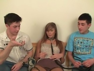 Two Guys Do What They Want With Hot Teen Blonde